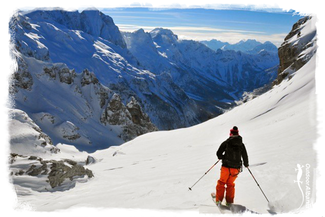 Tour-skiing outdoor albania winter season holiday travel western balkan ski snowboard tour