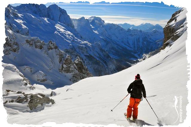 Tour-skiing outdoor albania winter season holiday travel western balkan ski snowboard tour