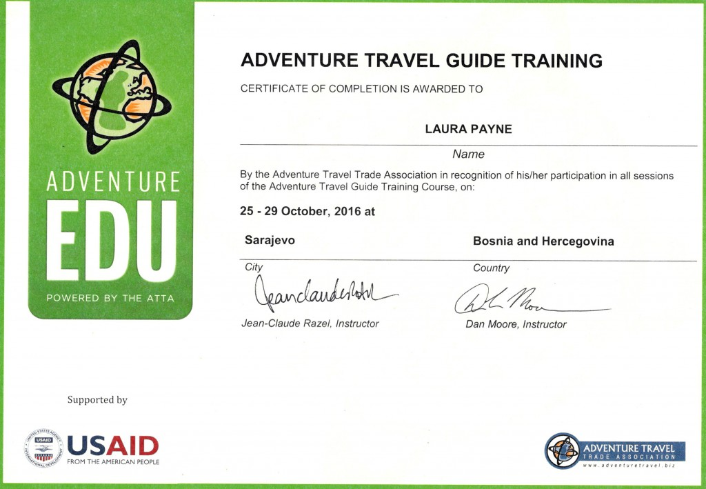 ATTA Adventure EDU Certification