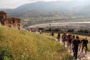 Self-guided Outdoor Albania study trip walking hiking swimming cycling trekking rafting snowshoeing river hiking tours holidays travel family kayak ski yoga trekking day trip Albania Western Balkans Peaks of the