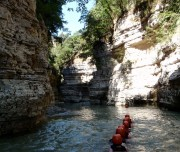 For several months, it is not possible to raft the entire canyon, but the fun activity of river hiking is a great alternative river hiking albania
