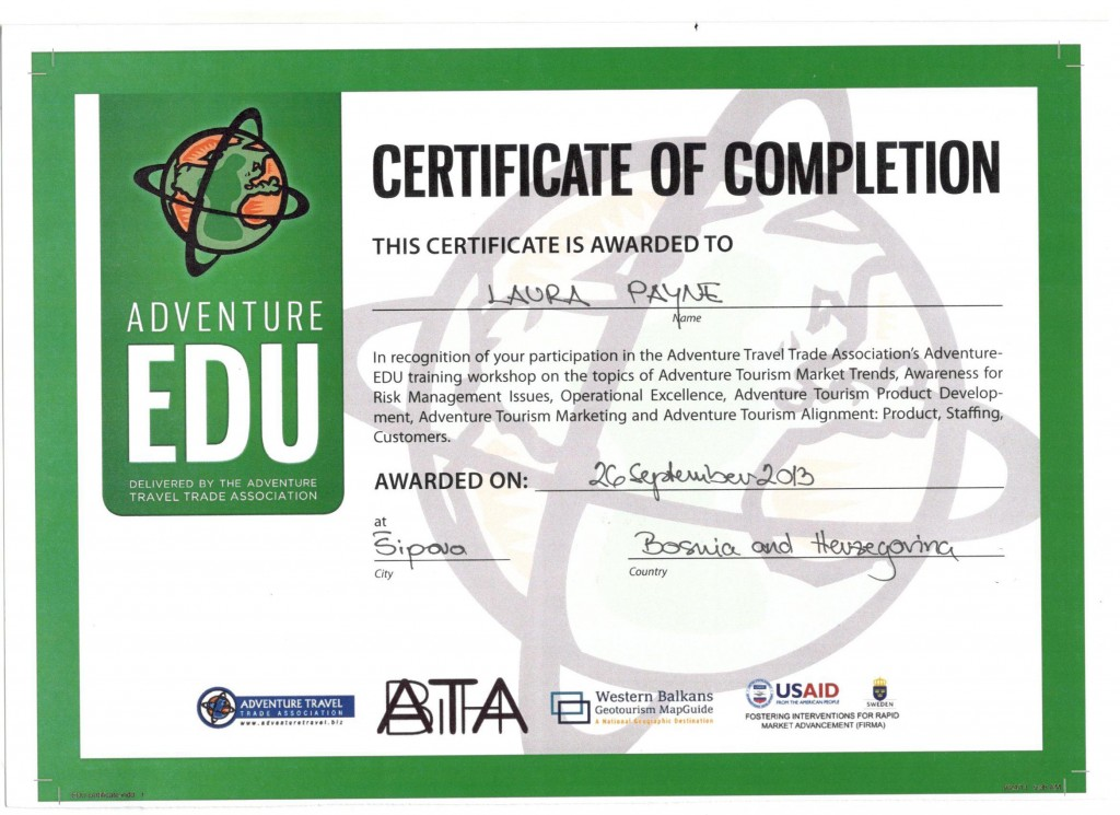 certificate Self-guided Outdoor Albania cultural discovery walking hiking swimming cycling trekking rafting snowshoeing river hiking tours holidays travel family kayak ski yoga trekking day trip Western Balkans Peaks of the travel